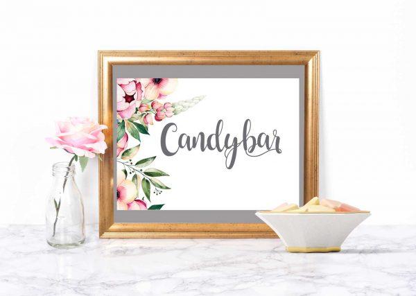 Karten-Hochzeit-Candybar